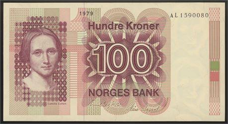100 Kroner 1979 AL Kv 0