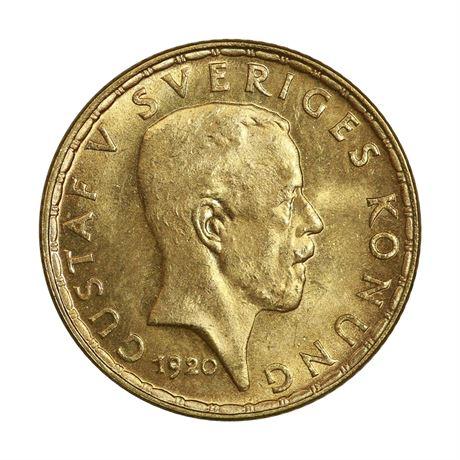 Sverige 5 Kronor 1920 Kv 0/01