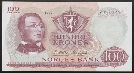 100 Kroner 1977 Z Erstatning Kv 01