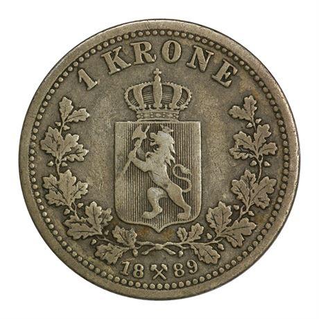 1 Krone 1889 Kv 1