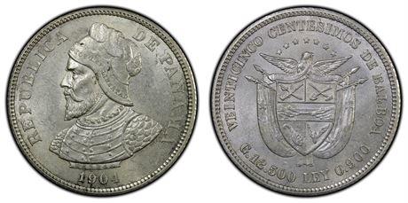 Panama 50 Centesimos 1904 Kv 0/01