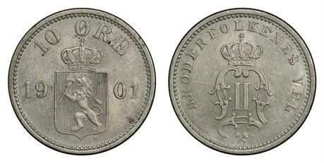 10 Øre 1901 Kv 01