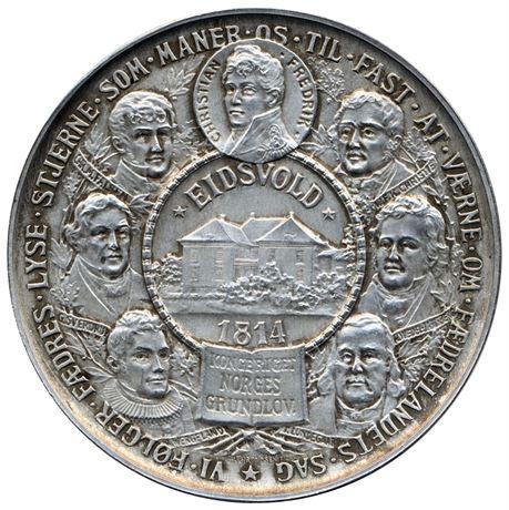 Grunnloven 100 År 1814-1914 Sølv Kv 01, S&H401