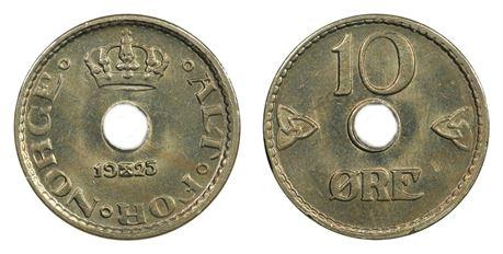 10 Øre 1925 Kv 0