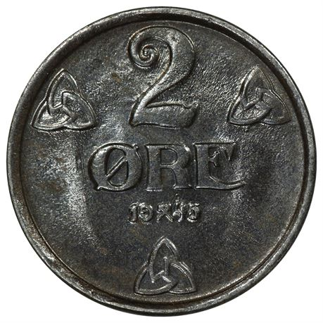 2 Øre 1945 Kv 0