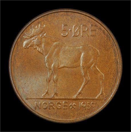 5 Øre 1959 Kv 0