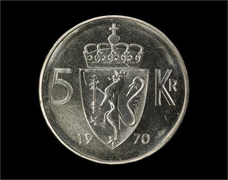 5 Kroner 1970 Kv 0
