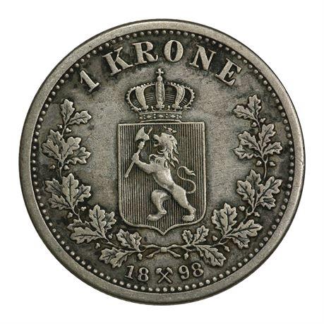 1 Krone 1898 Kv 1/1+