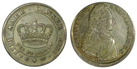 Danmark 4 Mark 1731 Kv 01