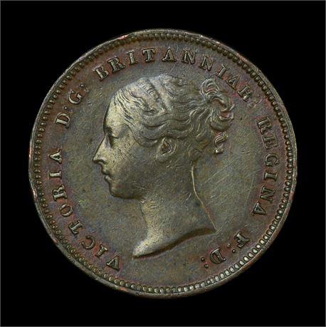 England Half Farthing 1843 Kv 01