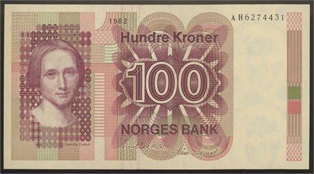 100 Kroner 1982 AH Kv 0