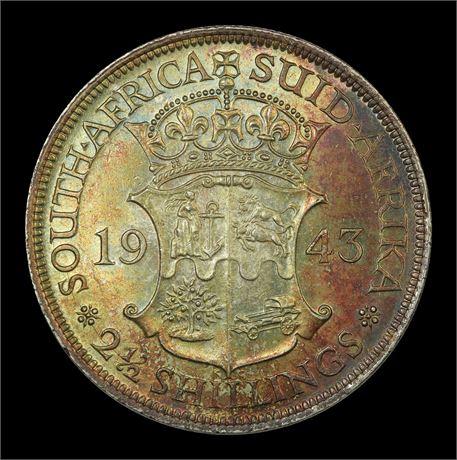 Sør-Afrika 2 1/2 Shillings 1943 Kv 0/01