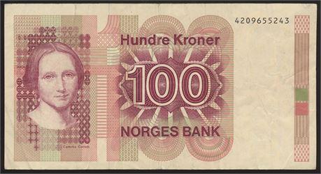 100 Kroner 6. utgave UTEN årstall. Kv 1-