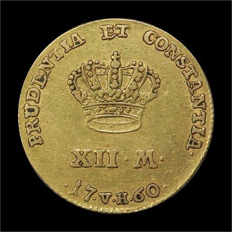 Danmark Kurantdukat 1760 Kv 1+