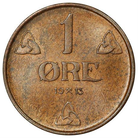 1 Øre 1913 Kv 0