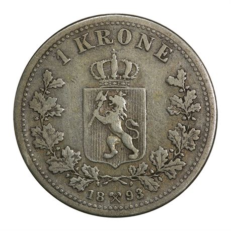 1 Krone 1893 Kv 1, riss