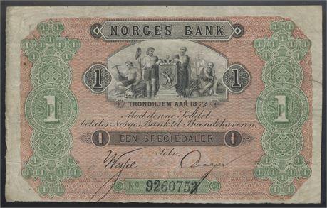 1 speciedaler 1876 Kv 1