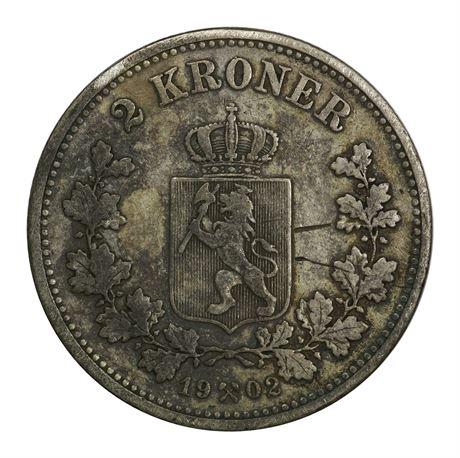 2 Kroner 1902 Kv 1, ripe