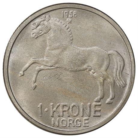 1 Krone 1958 Kv 0