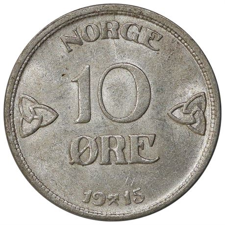 10 Øre 1915 Kv 0/01