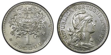 Portugal 1 Escudo 1929 Kv 0/01