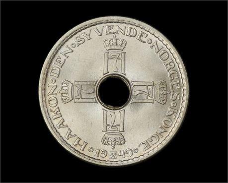 1 Krone 1949 Kv 0