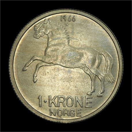 1 Krone 1966 Kv 0