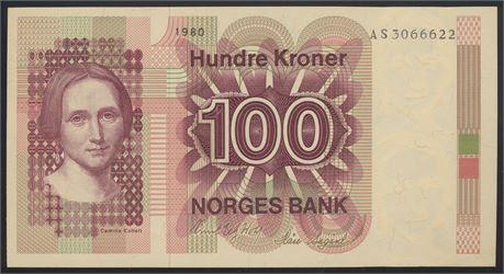 100 Kroner 1980 AS Kv 0