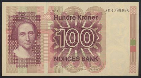 100 Kroner 1981 AD Kv 0