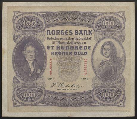 100 Kroner 1917 A Kv 1