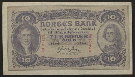 10 Kroner 1944 F Kv 1+