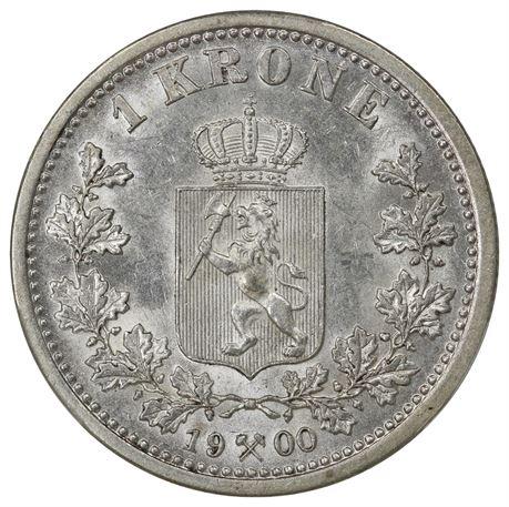 1 Krone 1900 Kv 0/01, PCGS AU58