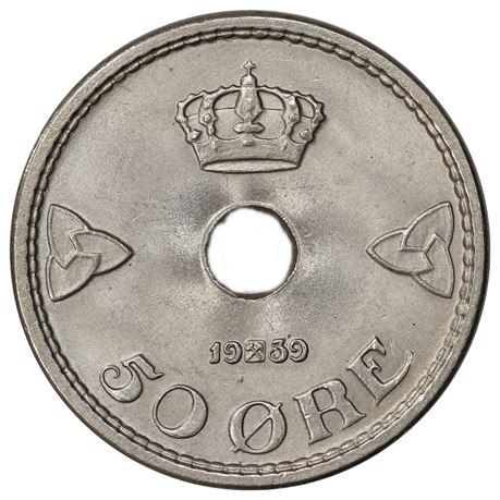 50 Øre 1939 Kv 0