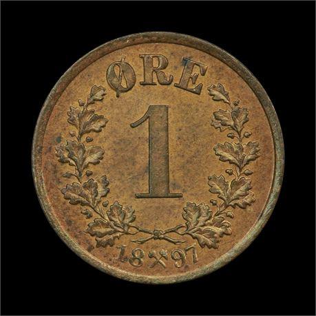 1 Øre 1897 Kv 0/01