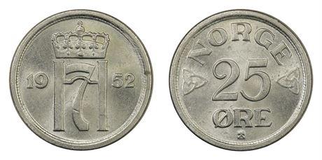25 Øre 1952 Kv 0