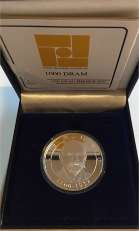Armenia 1000 Dram 2010 Leo Kv Proof i originalt etui