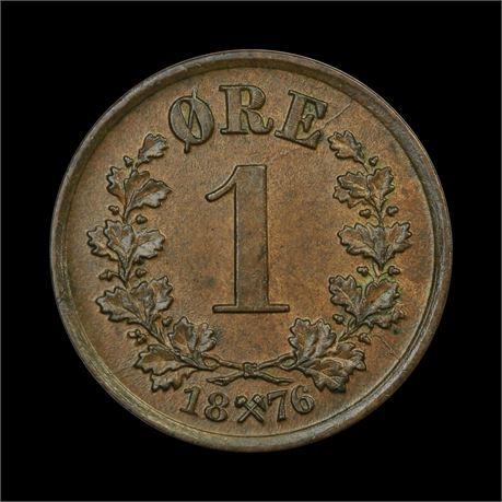 1 Øre 1876 Kv 0/01