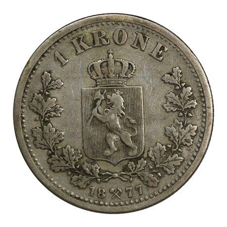 1 Krone 1877 Kv 1+