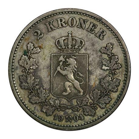 2 Kroner 1904 Kv 1/1+