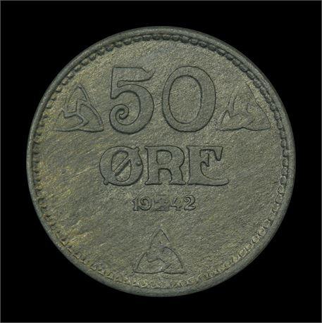 50 Øre 1942 Kv 0