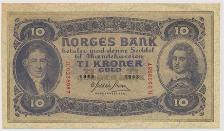 10 Kroner 1943 D0288937 Kv 0/01