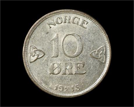 10 Øre 1915 Kv 01