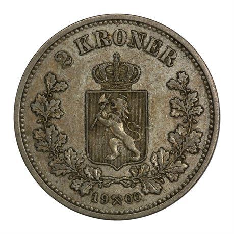 2 Kroner 1900 Kv 1+