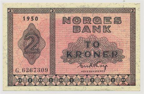 2 Kroner 1950 G6267309 Kv 01
