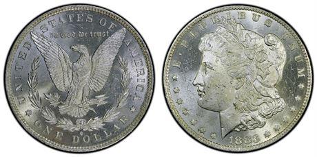 USA Morgandollar 1883 O Kv 0/01, speilflater