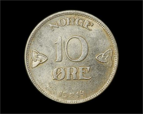 10 Øre 1914 Kv 0/01