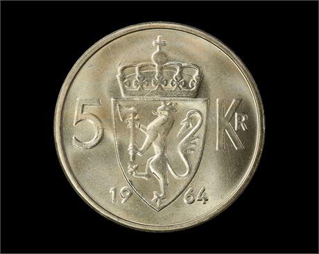 5 Kroner 1964 Kv 0
