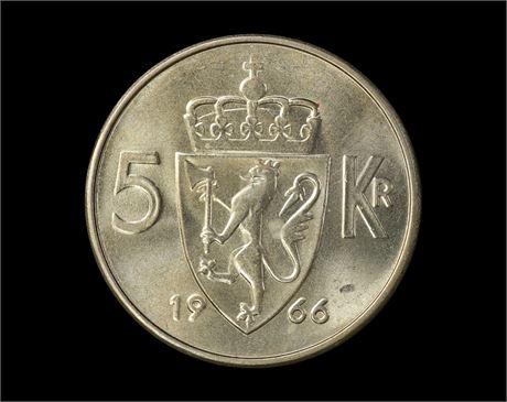 5 Kroner 1966 Kv 0