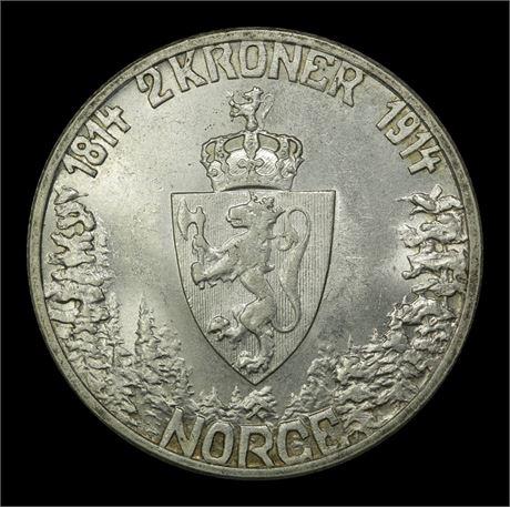 2 Kroner 1914 MN Kv 0/01