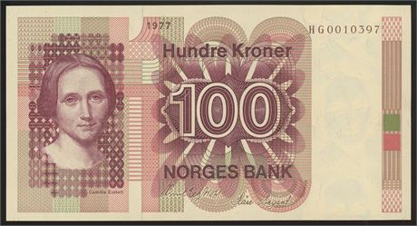 100 Kroner 1977 HG Erstatning Kv 0